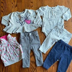 Baby GAP Baby Girl Gray Fairy Bundle 3-6 Months